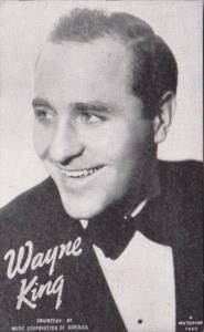 Vintage Arcade Card Wayne King