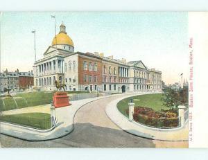 Unused Pre-1907 STATE HOUSE Boston Massachusetts MA t3282