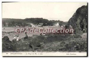 Old Postcard Douarnenez The Beach Of Rice