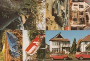 Southend on Sea 1987 Hurricane Essex Disaster Car Accident Crash 4x Postcard