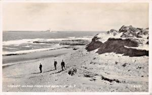 COQUET ISLAND FROM THE BEACH-AMBLE NORTHUMBERLAND UK PHOTO POSTCARD 1940