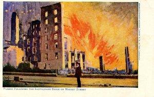 CA - San Francisco. Earthquake and Fire, April 1906. Market Street