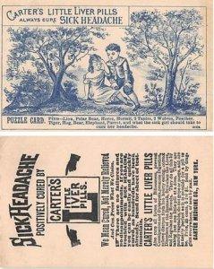Victorian Trade Card Approx size inches = 2.75 x 4.5 Pre 1900 small crease le...