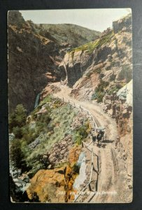 Vintage Ute Pass Mountain Colorado Horse and Carriage Real Picture Postcard RPPC