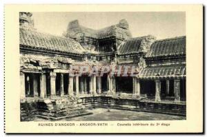 Postcard Ancient Ruins Cambodia Angkor D Angkor Vath inner Courette