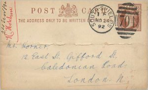 Entier Postal Stationery Postal Great Britain Great Britain 1892 South Shields