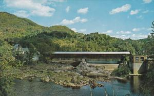 15403 NH Haverhill 1960's   Bath Covered Bridge over the Ammonoosuc river