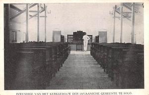 Indonesia, Republik Indonesia Inwendige van het Kerkgebouw der Javaansche Gem...