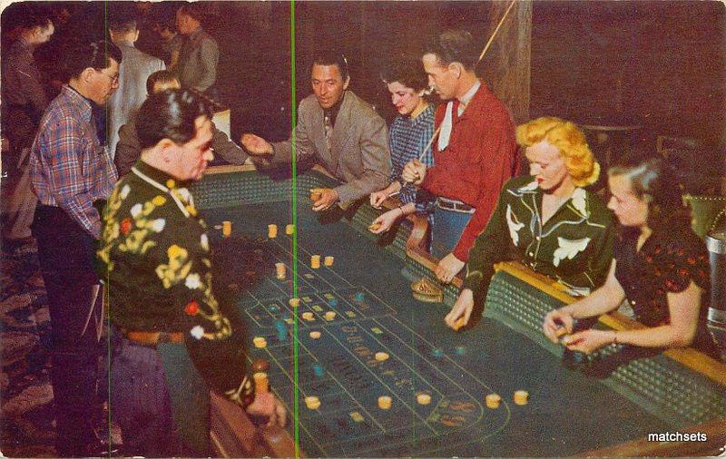 1950s Interior Gamling tables crap RENO NEVADA Roberts postcard 2024