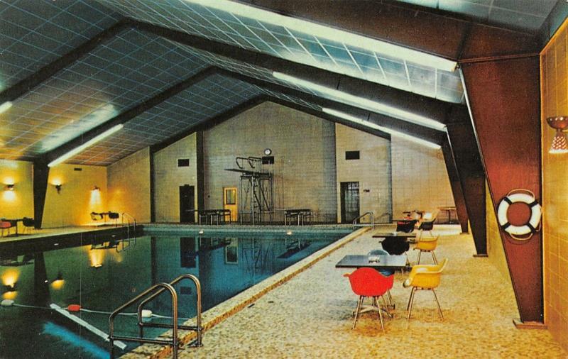 Bensonville Illinois~Flick-Reedy~Factory Employee Swimming Pool~1970s Postcard