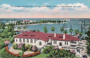 Florida St Petersburg Yacht Basin and Municipal Pier 1943