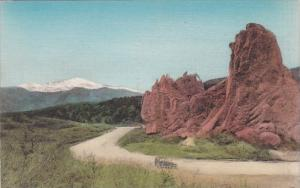 Colorado Colorado Springs Bear & Seal And Pikes Peak Garden Of Gods Albertype