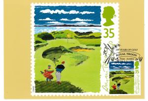 Post Card 35p stamp issued 5 July 1994 Golf Royal Troon The Postage Stamp with a