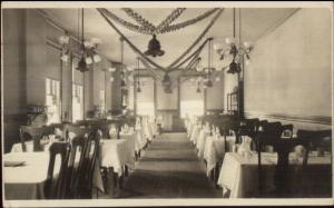 Columbia dining Room - Leominster MA Written on Back Real Photo Postcard