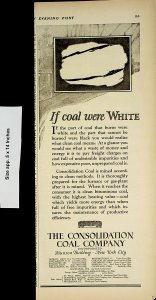 1924 Coal Company Consolidation White Burned Coal Vintage Print Ad 4240