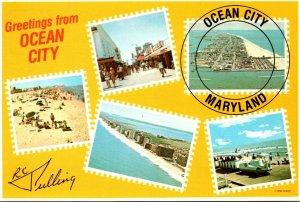 Maryland Ocean City Greetings Multi View