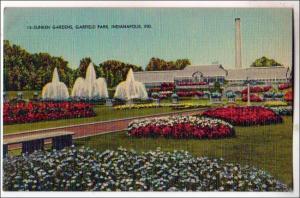 Sunken Gardens & Fountain, Garfield Park, Indianapolis Ind