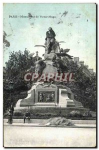 Old Postcard Paris Monument of Victor Hugo