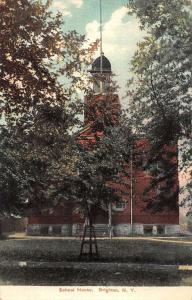 Brighton New York School House Street View Antique Postcard K94539