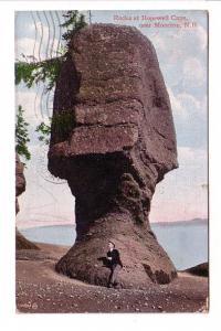 Man Sitting on Rocks at Hopewell Cape, Moncton, New Brunswick, Valentine RPO ...
