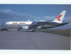 1980's PACIFIC WESTERN AIRLINES BOEING 767 AIRPLANE Vancouver BC E5825