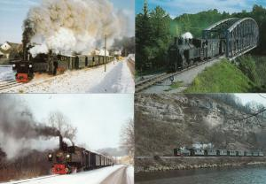 Steyr Tirol 8x Austria Trains Postcard s