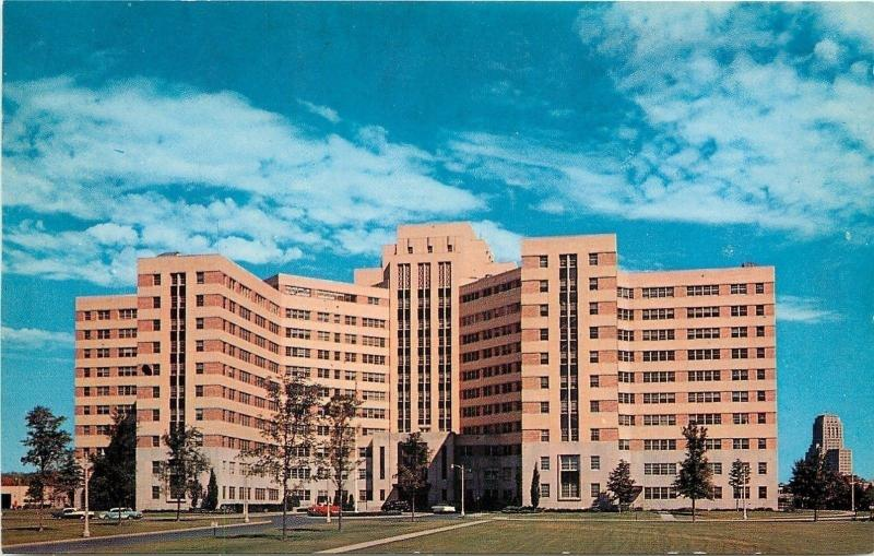 Albany New York~Veterans Administration Hospital~Great Clouds 1960s Postcard