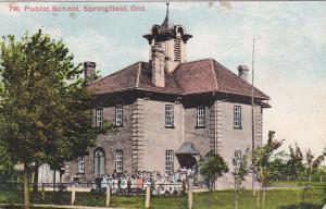 SPRINGFIELD , Ontario, Canada, PU-1909 ; Public School