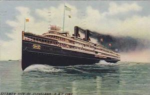 Steamer/Ship City Of Cleveland, D & C Line, PU-1911