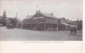 Pennsylvania Souderton Main & Front Streets Looking East Berkemeyer Pc sk1735