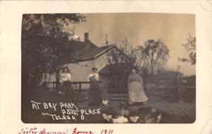 Toledo Ohio Bay Park Point Place Real Photo Antique Postcard K102746