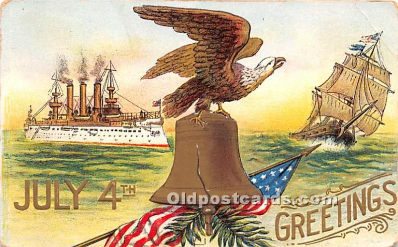 July 4th Independence Day Post Card Greetings 1908