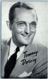 Vintage TOMMY DORSEY Postcard / Mutoscope Card Big Band Leader Trombone c1930s