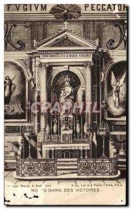 Old Postcard Notre Dame Des Victoires Paris