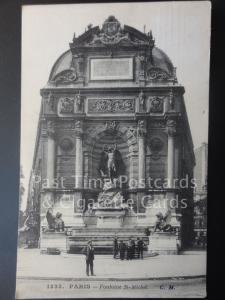 PARIS Fontaine St. Michel c1911 - Pub by C.M.1325  140515