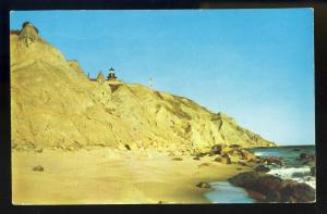 Block Island, Rhode Island/RI Postcard,Clay Banks/Lighthouse