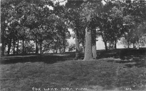 Fox Lake Park Minnesota 1932 RPPC Photo Postcard 3492