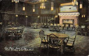Great Falls Montana Hotel Rainbow Palm Room Antique Postcard K53451