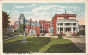 Vintage Postcard, Mercy Hospital Springfield Massachusetts Americhrome