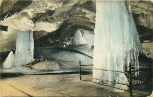 Dobsinska Glaciar Ice Cave interior ( Dobsina, Slovakia ) Ice Altar 1912