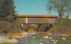 Covered Bridge At Jeffersonville Vermont