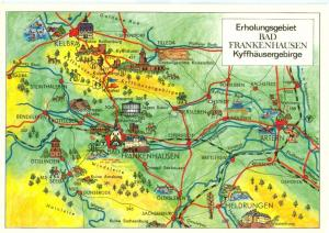Germany, Erholungsgebiet BAD FRANKENHAUSEN Kyffhäuser-Gebirge, unused Postcard