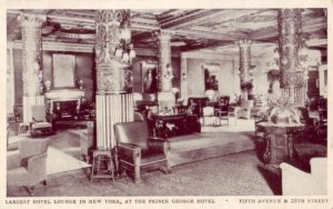 LARGEST HOTEL LOUNGE IN NEW YORK, AT THE PRINCE GEORGE HOTEL Fifth Ave & 28th St