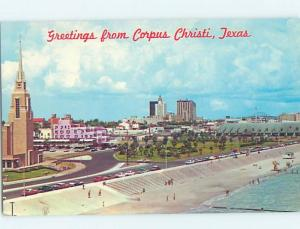 Unused Pre-1980 PANORAMIC VIEW Corpus Christi Texas TX i0016