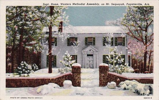 Arkansas Fayetteville Supt Home Western Methodist Assemply On Mount Sequoyah