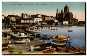 Old Postcard Saint Raphael Port Boat
