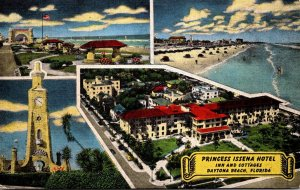 Florida Daytona Beach Princess Issena Hotel Inn and Cottages 1952