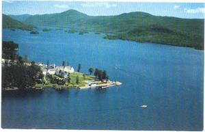 Sagamore Hotel on Lake George, Bolton Landing, NY State, New York, Chrome