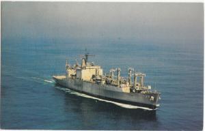 USS FLINT (AE-32), Pacific Fleet, unused Postcard