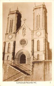 Noumea New Caledonia Cathedral Real Photo Antique Postcard J61437
